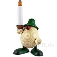 Eierkopf Alfred mit Kerze grün